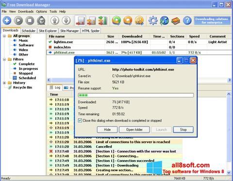 Снимка на екрана Download Master за Windows 8