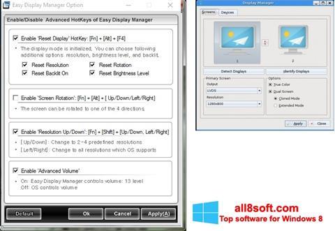 Снимка на екрана Easy Display Manager за Windows 8